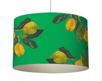Lemon lamp shade etsy patterned lampshade designer lampshade lemon lampshade ceiling lampshade contemporary lampshade green lampshade standard lampshade aloadofball Image collections