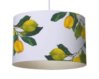 Lemon lamp shade etsy patterned lampshade designer lampshade lemon lampshade ceiling lampshade contemporary lampshade white lampshade standard lampshade aloadofball Image collections
