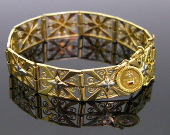 French Art Nouveau Bracelet with an Augis charm, France circa 1910