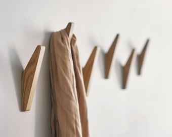 Oak Wood Wall Hook GATIS, Coat Hook, Towel Hook, Bathroom Accessory, Coat Rack, Wooden Hook, Hook for Wall, Coat Rack Wall Mount, Hanger