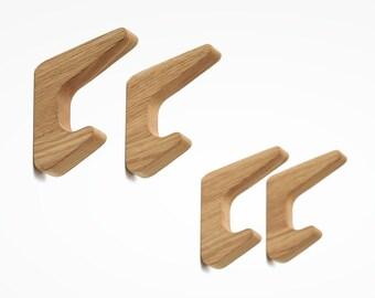 Wall Hooks RAITIS / Set of 4 or 6 / Coat hooks / Rack / Entryway organizer / Key holder / Housewarming gift / Bathroom decor / Made by DABA