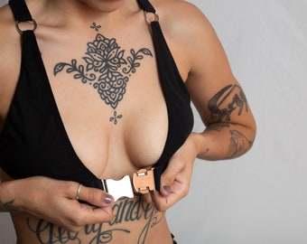 Lilith: Front Buckle Cotton Bra