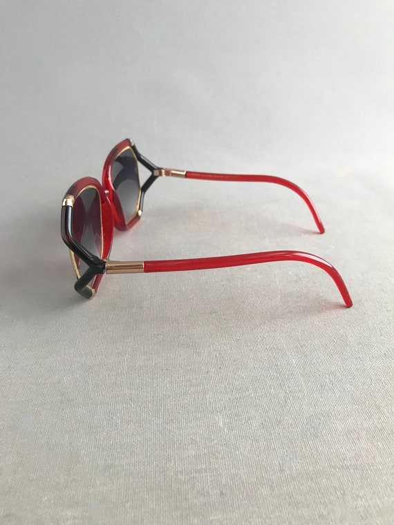 1970s Vintage Ted Lapidus Paris Octagon Sunglasse… - image 8
