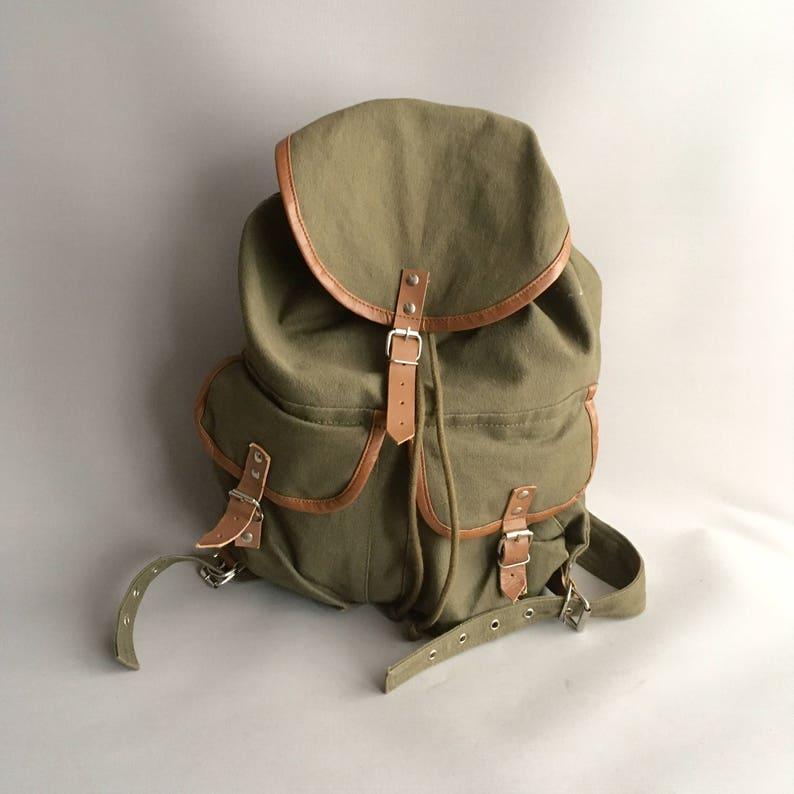 棉布帆布背包