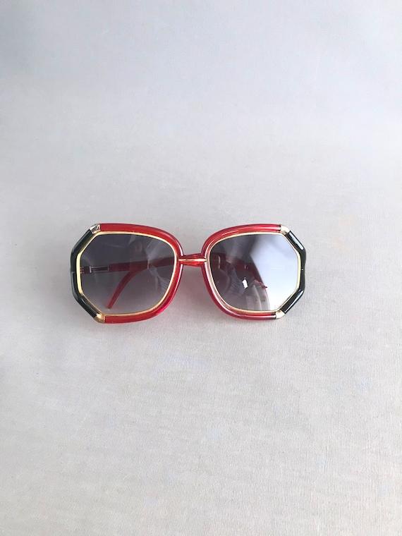 1970s Vintage Ted Lapidus Paris Octagon Sunglasse… - image 1