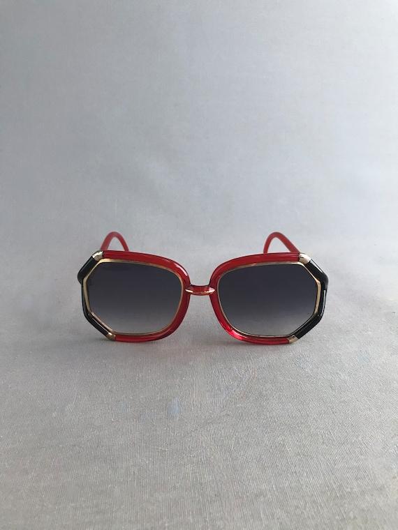 1970s Vintage Ted Lapidus Paris Octagon Sunglasse… - image 5
