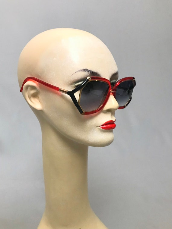 1970s Vintage Ted Lapidus Paris Octagon Sunglasse… - image 4