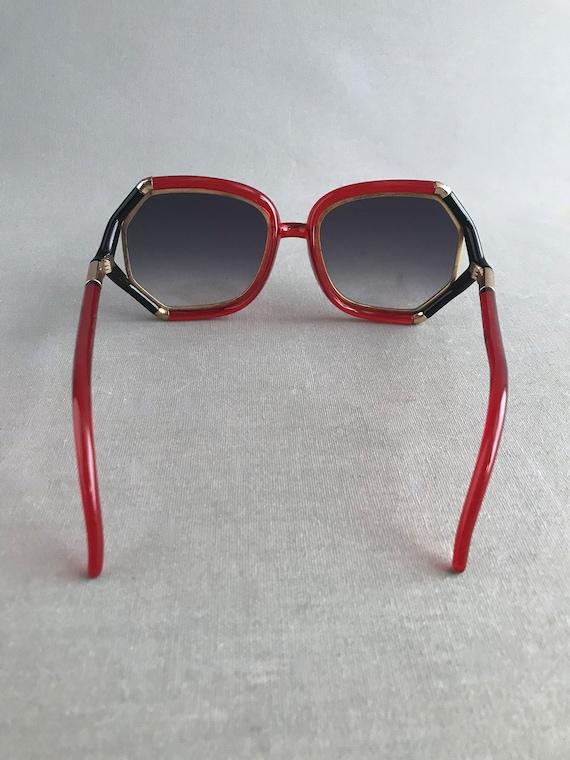 1970s Vintage Ted Lapidus Paris Octagon Sunglasse… - image 7