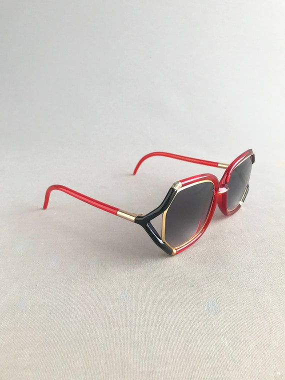 1970s Vintage Ted Lapidus Paris Octagon Sunglasse… - image 6