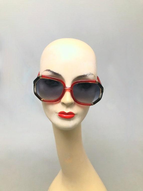 1970s Vintage Ted Lapidus Paris Octagon Sunglasse… - image 3