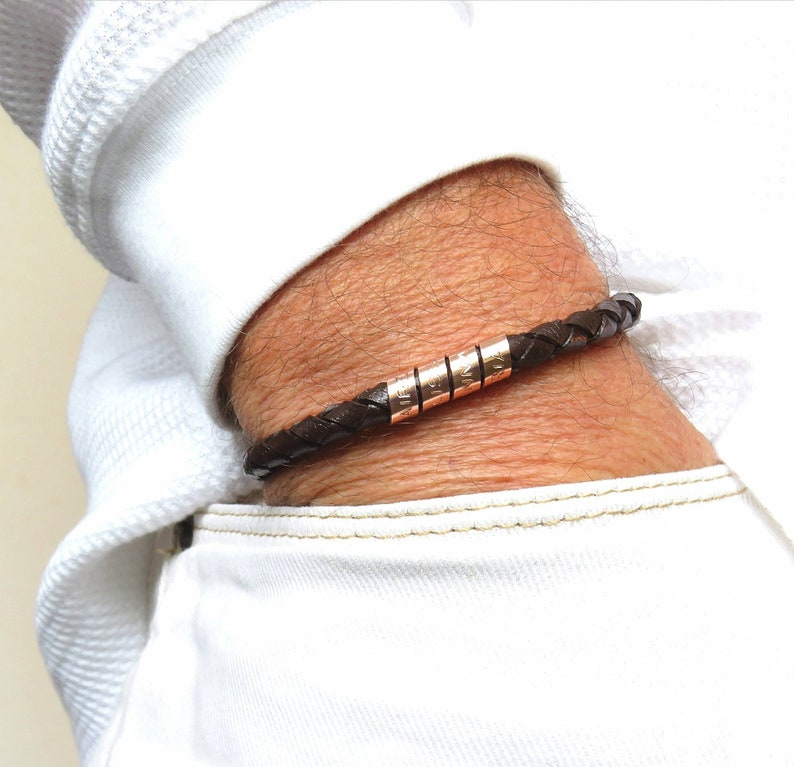 Personalized gifts Dad gift Mens gift Engraved bracelet Leather Bracelet Custom coordinates Cuff bracelet Mens personalized
