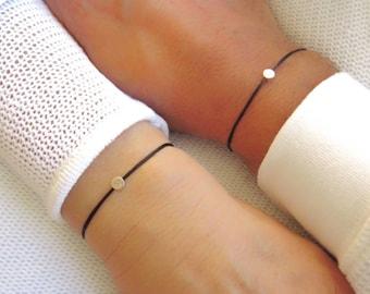 Love Couple Bracelet Set of 2 Bracelets Custom Names Armband Filigree Armband Silver Bracelet