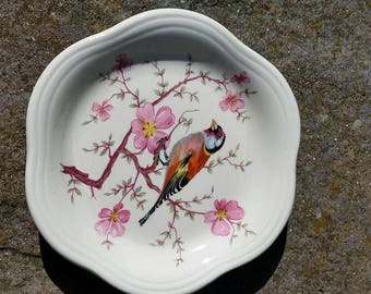 Royal Worcester Pallisy pin dish with Finch