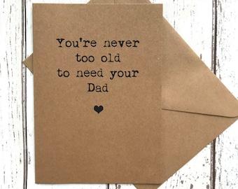Dad birthday card, fathers day card, funny fathers day card, dad card, dad card funny, card for dad, dad birthday, funny dad card