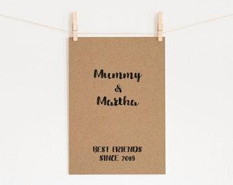 New parents print, A4 wall print
