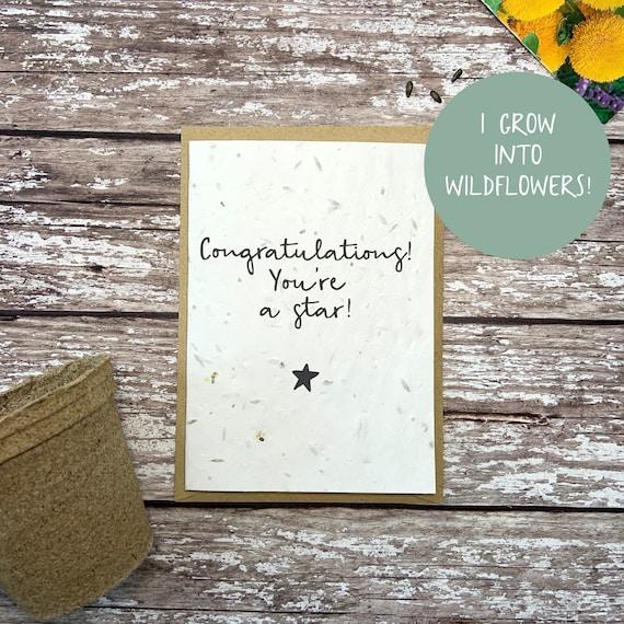 Seed congratulations card, Plantable congratulations card