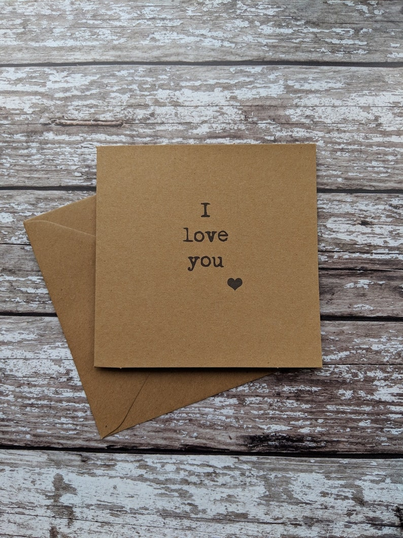 typography uk sellers only typewriter I love you card valentine card valentines card best friend heart card best friend card