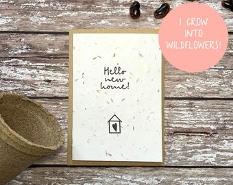 Seed new home card, Plantable new home card