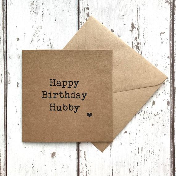 Hubby Birthday Card Husband Birthday Card Happy Birthday Etsy