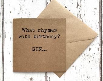 Card for friend, best friend birthday card, friend birthday, friend birthday card, funny birthday card, gin, best friend card, uk seller