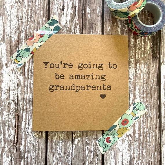 New grandparents card, you're going to be amazing grandparents, new grandbaby card, new grandma card, new grandad card, uk sellers