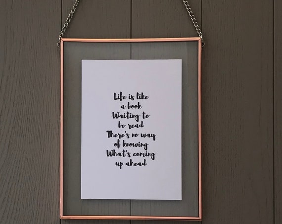 Framed inspirational poem