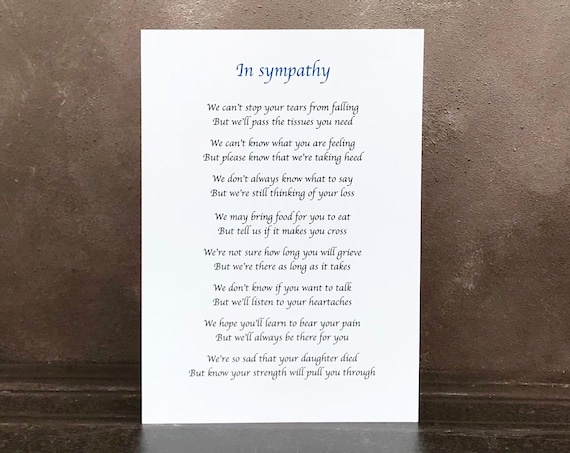 Beautiful personalised sympathy poem