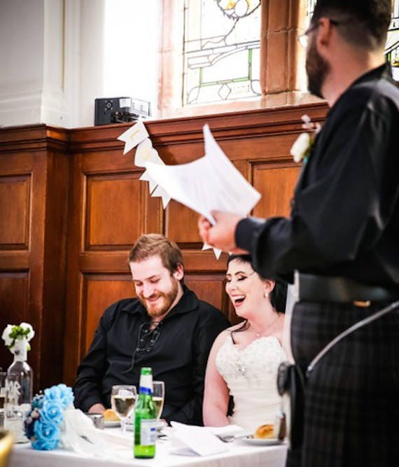 Bespoke rhyming wedding speech
