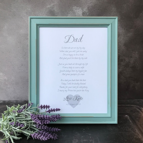 Personalised Father of the bride framed poem