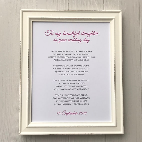 Mother to daughter wedding gift