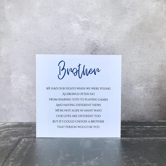 Card for your brother on any occasion