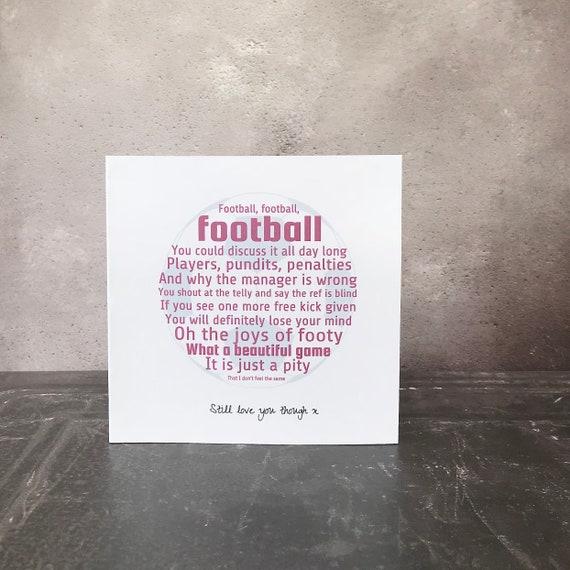 Personalised football card