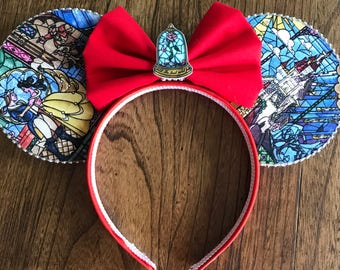 Color options!  Beauty and the Beast Mickey ears,  Beauty and the Beast Minnie Ears,  Beast Mickey ears, Beast's Castle