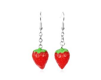 Apple Necklace Choose Length Snow White 50s Kitsch Fruit Rockabilly Teacher