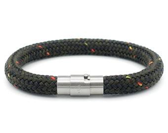 0347c923ecb2f6 Armband mens, man armband, armband, heren armband, touw armband, donker  groene armband, heren sieraden, mannen cadeau, voor hem