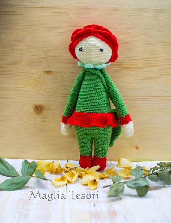 Lalylala Amigurumi Puppe Plushie Häkeln Rose Puppe Häkeln Etsy