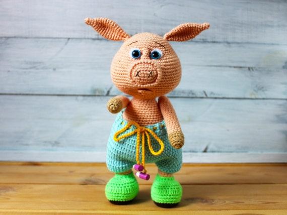 Amigurumi Tiere Häkeln Schwein Spielzeug Amigurumi Schwein Etsy