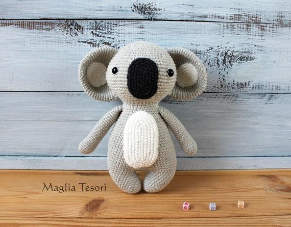 Häkeln Koala Amigurumi Tiere Häkeln Puppe Koalabär Spielzeug Etsy