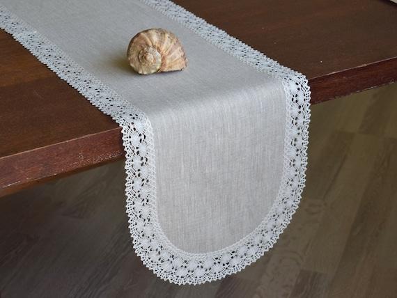 Benutzerdefinierte Grosse Schmalen Tischlaufer Ovale Leinen Etsy