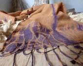 Eco Printed - Wool Silk S...