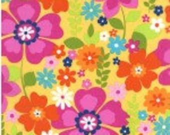 Michael MIller Flowertopia Sunshine Yellow Cotton Quilting Fabric