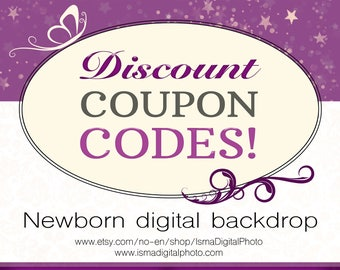 Discount Coupon Codes - Newborn digital backdrop - Sale, Free Digital Files, Freebies, free coupon codes