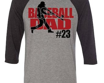 Baseball Dad Raglan Shirt
