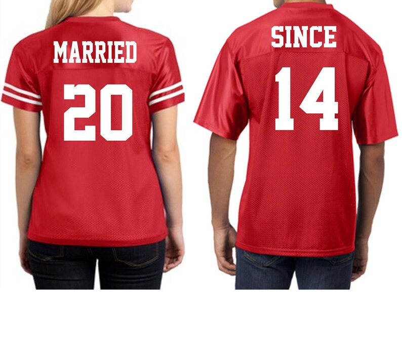 50e3b7ed Couples Married Since Jersey.Matching Couples Jerseys.Together | Etsy