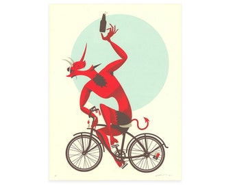 Ever Dance With The Devil In The Pale Moon Light? Screen Printed Poster