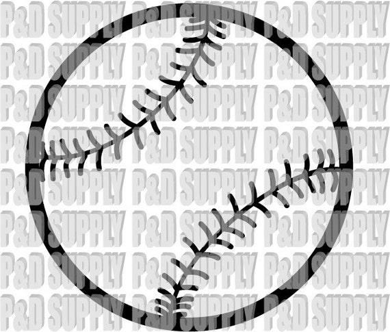 Download Items similar to Softball or Baseball SVG, DXF - Digital ...