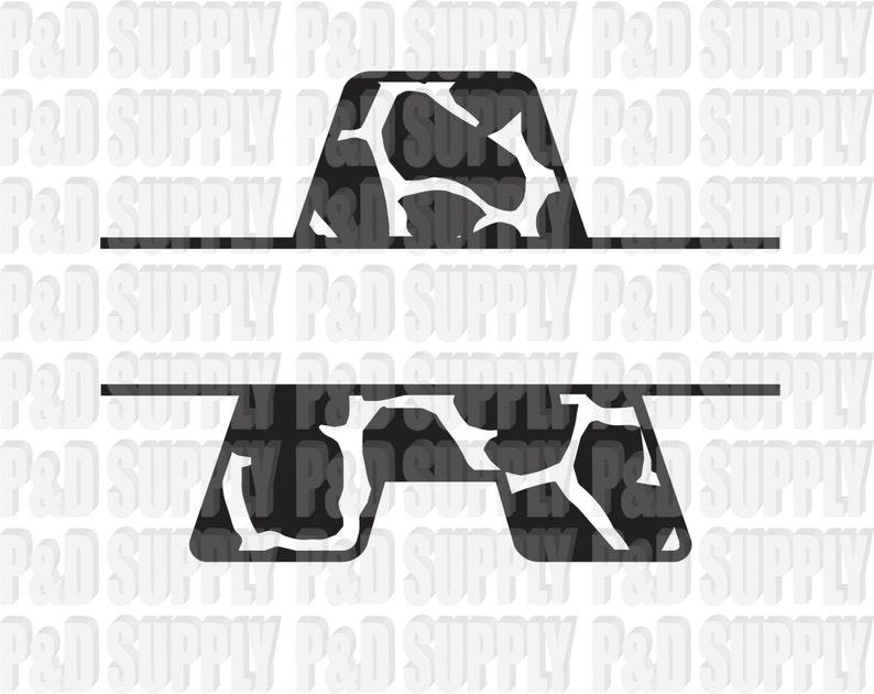 Split Animal Print Giraffe Print A Z Alphabet Letter Monogram Etsy