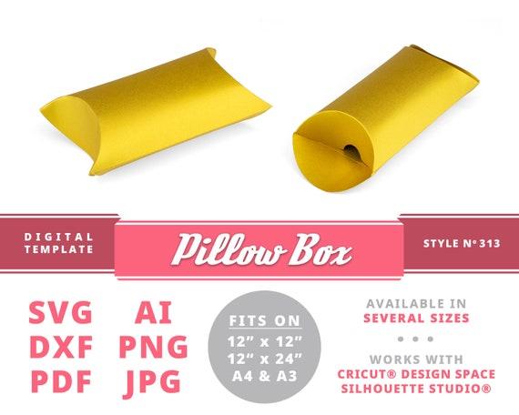Pillow Box Instant Download Printable Digital Box Template Diy Etsy