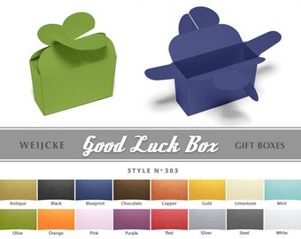 GOOD LUCK BOX Gift Box Irish St Patrick Paper Box Little Box Ring Bearer Box Papercraft Party Favor Boxes Jewelry Packaging Be My Bridesmaid