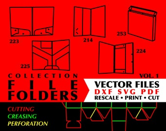 FILE ARCHIVE FOLDERS Collection of 15 Diy Digital Download Box Templates Instant Download Paper Box Template Presents Svg